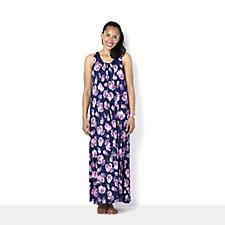 132374 - Carole Hochman Pansie Print Maxi Nightgown