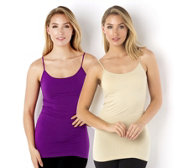 skinnytees Pack of 2 Thin Strap Camisoles