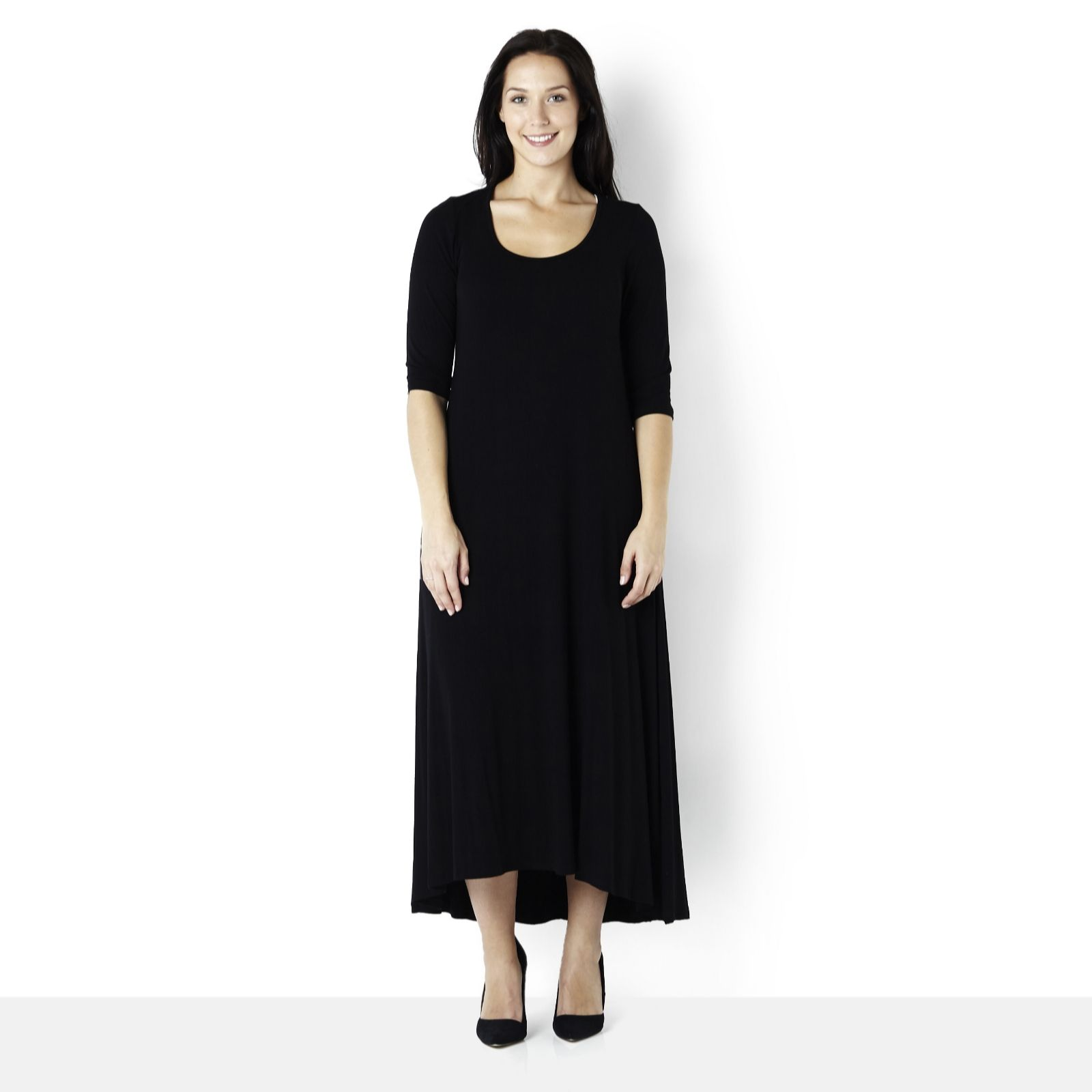 Join Clothes Jersey Maxi Dress with Half Sleeve