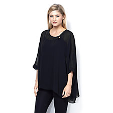 Jeanne Beker Dolman Sleeve Georgette Top with Cami