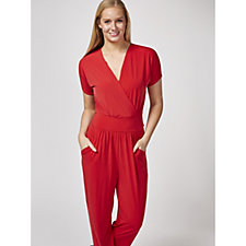 158374 - Kim & Co Brazil Knit Falling Sleeve Jumpsuit With Pockets Regular