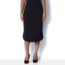 Frill Hem Lined Skirt by Michele Hope