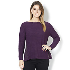 Fashion by Together Knitted Jumper with Stud Hem Detail
