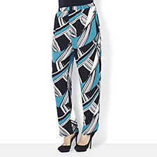 160774 - Chelsea Muse by Christopher Fink Textured Jersey Tulip Hem Trousers