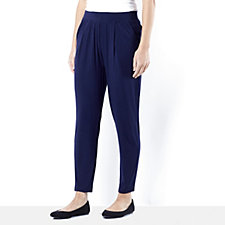 Pleat Front Ankle Length Trousers by Nina Leonard