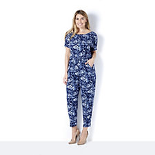 Kim & Co Brazil Knit Dolman Sleeve Jumpsuit Petite