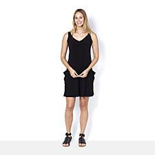 Kim & Co Brazil Knit Sleeveless Romper with Pockets