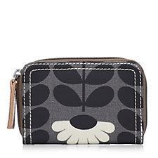Orla Kiely Wild Daisy & Linear Stem Small Zip Wallet