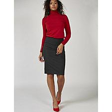 MarlaWynne Solution Ponte Pencil Skirt