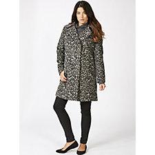 Centigrade Leopard Printed Wool Blend Coat