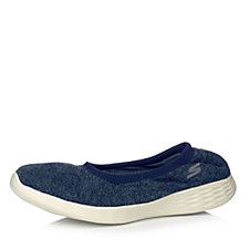 171874 - Skechers You Define Heathered Stretch Knit Slip On Shoe