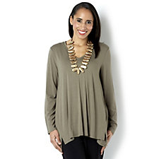 MarlaWynne Jersey Butterfly V-Neck Top