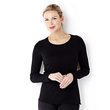 Kim & Co Brazil Knit Round Neck Long Sleeve Layering Top