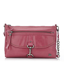 The Sak Ventura Leather Crossbody Bag with Front Clasp Closure