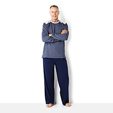 Stan Herman Brushed Back Space Dyed French Terry Men's PJ Set
