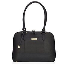 Tignanello Bowery Saffiano Leather Dome Satchel with RFID Protection