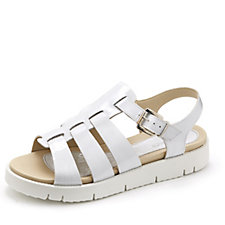 159075 - Easy'n Rose Patent Fishermans' Sandal with White Sole
