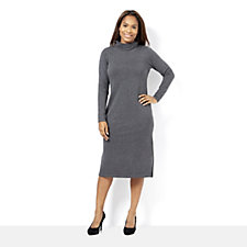 Isaac Mizrahi Live Polo Neck Knitted Dress