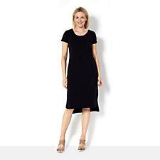 H by Halston Essentials Curved Hem Midi Dress