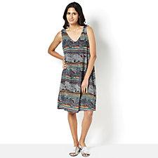 Ronni Nicole Printed Stretch A Line Sleeveless Dress