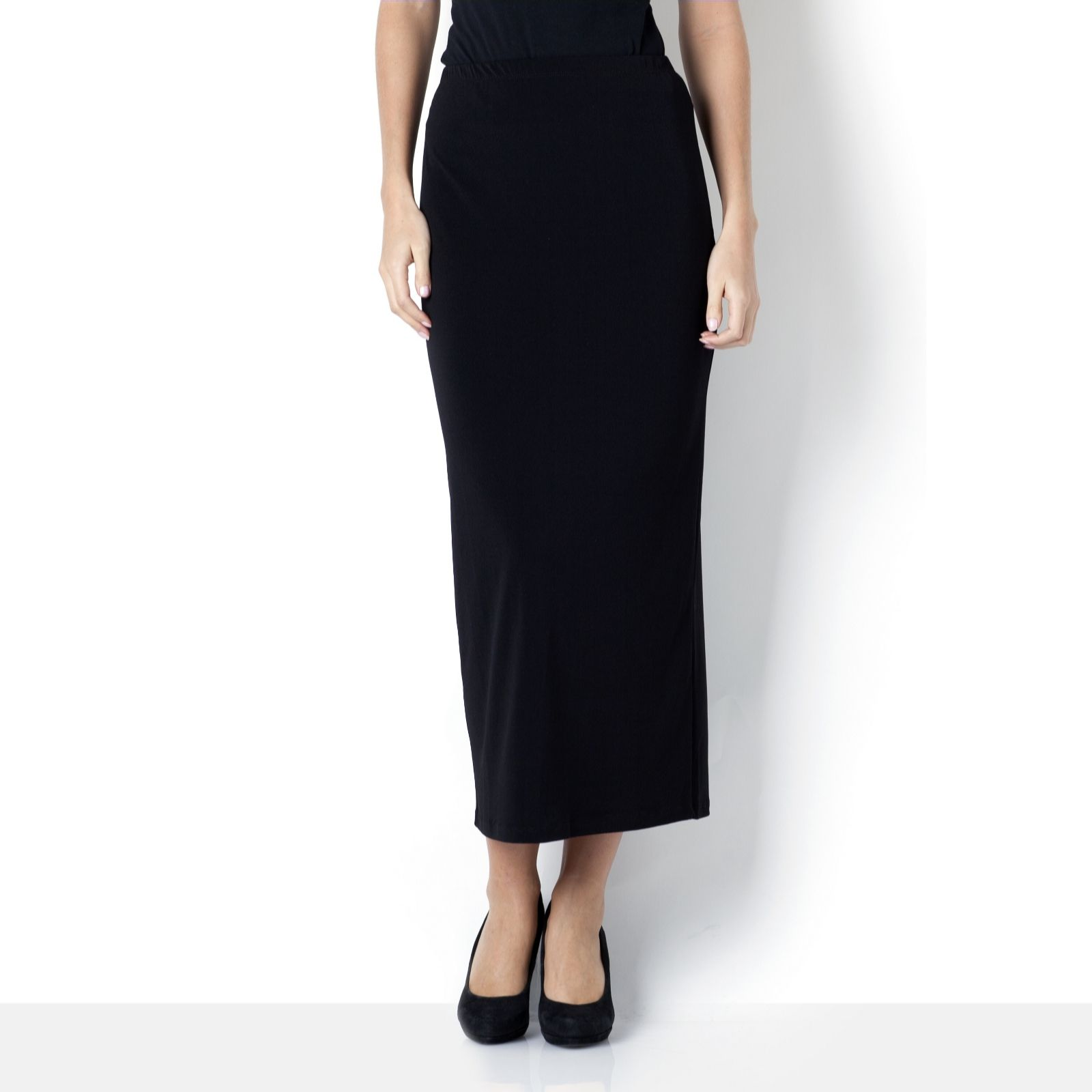 Kim & Co Stretch Crepe Long Skirt with Back Split - Page 1 - QVC UK