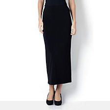 Kim & Co Stretch Crepe Long Skirt with Back Split