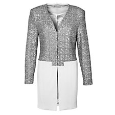 Trinny & Susannah Sequin Detail Long Jacket