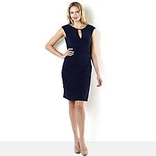 Ronni Nicole 'O So Slim' Keyhole Detail Jersey Side Drape Dress