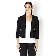 Tab Sleeve Knit Bolero by Nina Leonard