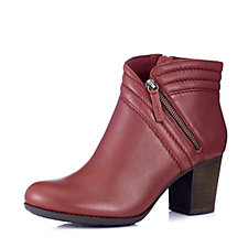 Clarks Enfield Ellen Side Zip Leather Ankle Boot Wide Fit