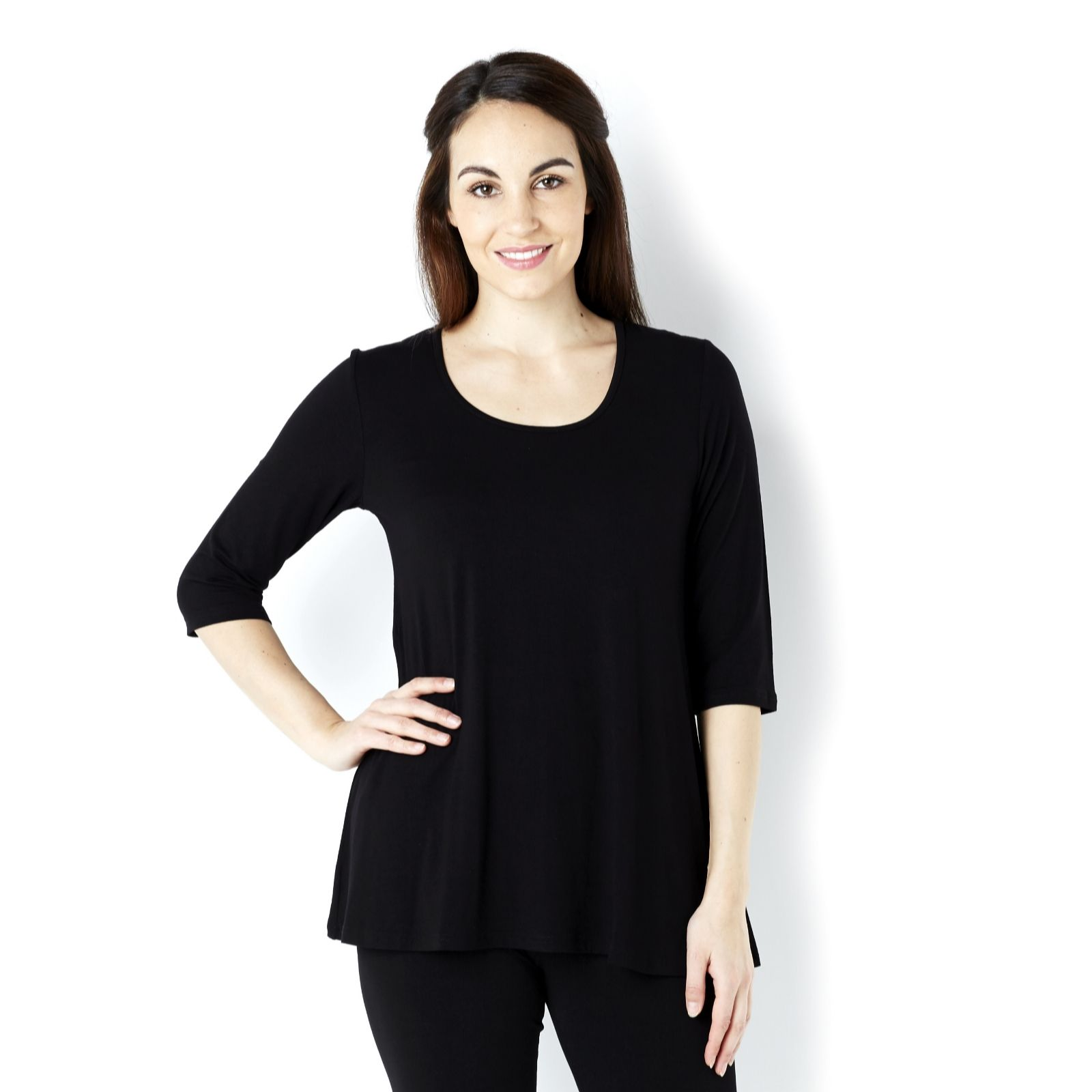 Join Clothes Jersey 3/4 Sleeve Scoop Neck