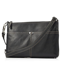 Tignanello Heritage Pebble Leather Crossbody with RFID Protection