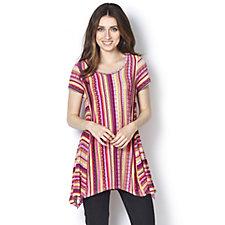 Antthony Designs Stripe Dip Hem Tunic
