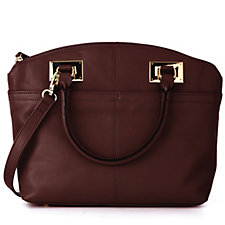 Tignanello Show Stopper Glove Leather Satchel Bag with Shoulder Strap