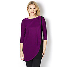Attitudes by Renee Overlay Melange Knit Tunic