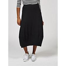 Yong Kim Jersey Bubble Hem Maxi Skirt