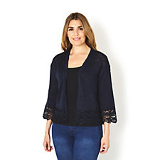 165176 - Absolutely Famous Shrug with Scalloped Crochet Detail