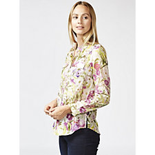 Fashion by Together Tab Sleeves Shirt