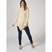 Du Jour Long Sleeve Turtle Neck Sweater with Asymmetric Hem
