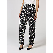 Confetti Print Trousers with Vents by Michele Hope