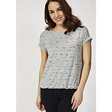 Betty & Co Bird on a Wire Print Top
