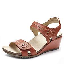 Earth Spirit Portland Leather Wedge Sandal with Adjustable Strap