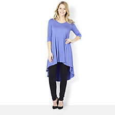 Join Clothes V Neck Tunic with Front Seam Detail & Dip Back Hem
