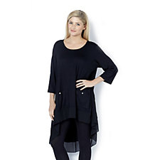 Jersey Chiffon Tunic by Michele Hope