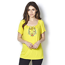 Antthony Designs Embroidered Bib Top