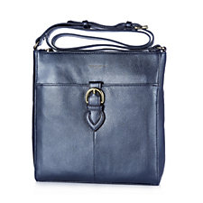 Tignanello Pebble Leather Large Zip Top Crossbody Bag with RFID Protection