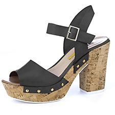 Manas Cork Heel Strappy Sandal