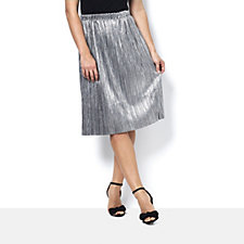 Label Lab Metallic Plisse Skirt