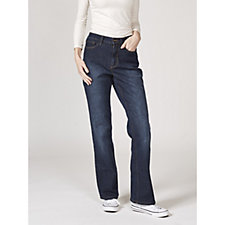 Denim & Co. 5 Pocket Lightly Boot Cut Jeans Regular