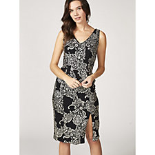 Ronni Nicole Sleeveless Jacquard Foil Print Dress